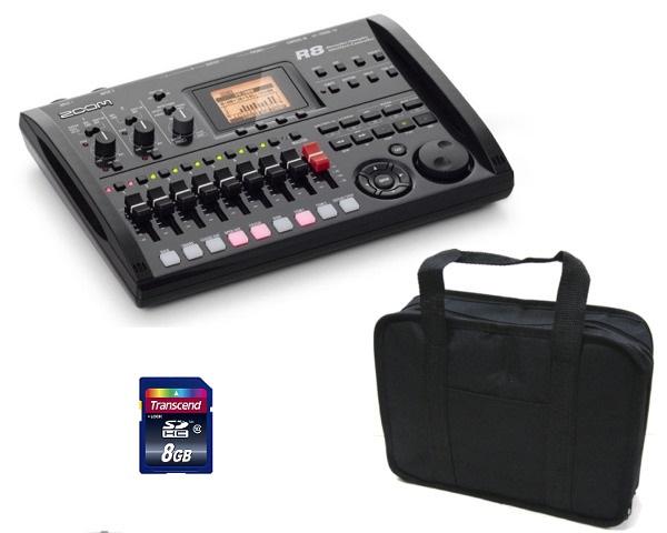 【送料込】ズーム ZOOM R8(汎用ソフトケース+SDHC/8GB付) 2tr同時録音/8tr同時再生/B5サイズ・コンパクト・マルチトラック・レコーダー【smtb-TK】