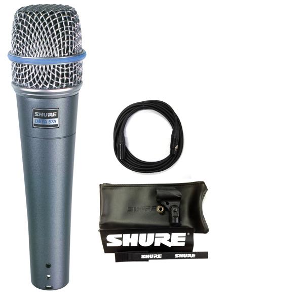 【送料込】【CANAREマイクケーブル付7点セット】SHURE/シュアー Beta 57A ボーカル・楽器マイク【正規品2年保証】【smtb-TK】