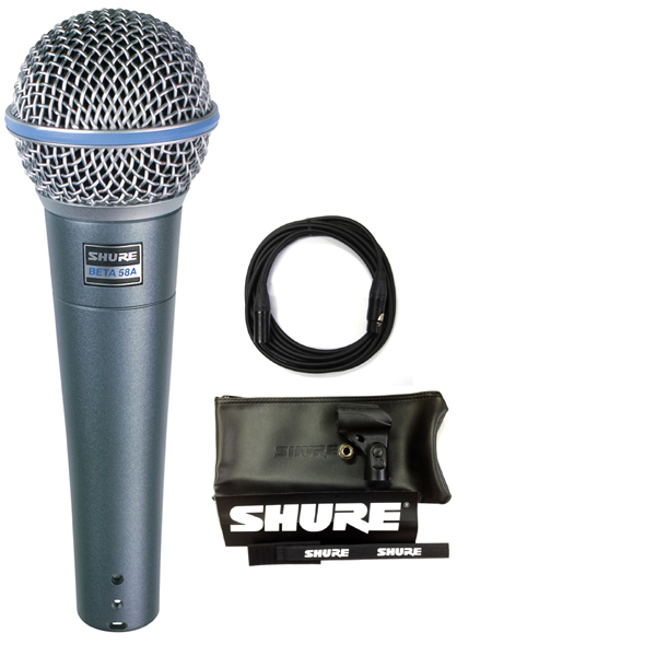 【送料込】【CANAREマイクケーブル付7点セット】SHURE/シュアー Beta 58A ボーカルマイク【正規品2年保証】【smtb-TK】