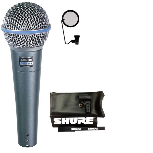 【送料込】【ポップブロッカー付7点セット】SHURE/シュアー Beta 58A ボーカルマイク【正規品2年保証】【smtb-TK】