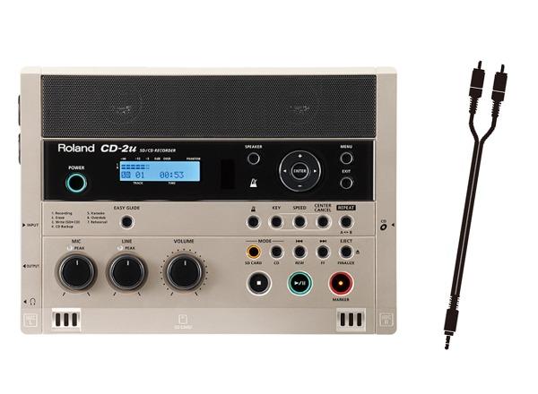 【送料込】【接続ケーブル/ピン⇔ステレオミニ付】Roland/ローランド CD-2u SD/CD Recorder SD/CDレコーダー【smtb-TK】