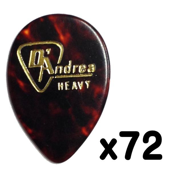 【メール便・送料無料・代引不可】D'Andrea/ダンドレア RG358 .96 (Heavy) セルロース ギターピック72枚セット【smtb-TK】