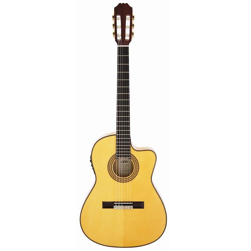 【送料込】【ライトケース付】ARIA/アリア ACE-77FCE エレクトリック フラメンコ クラシックギター スペイン製【smtb-TK】