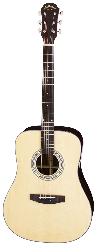 【送料込】【ケース付】ARIA/アリア AD-215 N トップ単板 アコースティックギター【smtb-TK】