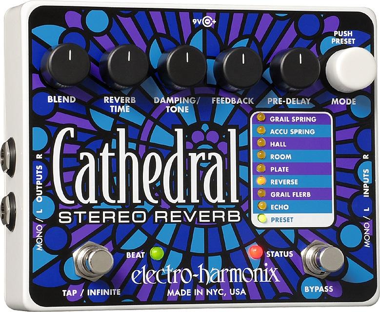 【送料込】【国内正規品】electro-harmonix/エレクトロハーモニックス Cathedral ステレオ リバーブ【smtb-TK】