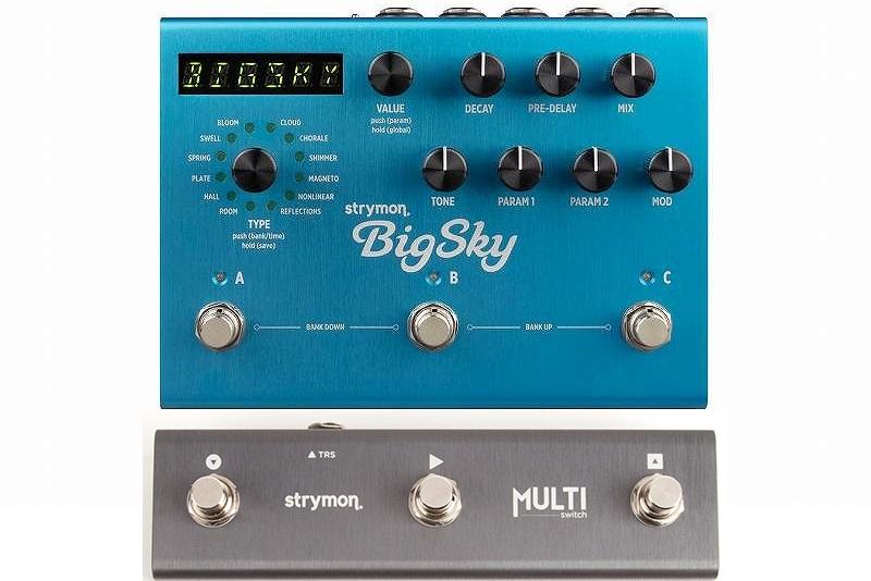 【送料込】【スイッチングシステム/MultiSwitch付】Strymon/ストライモン BigSky REVERB unit with MIDI Preset ビッグスカイ/リバーブ・マシーン【smtb-TK】