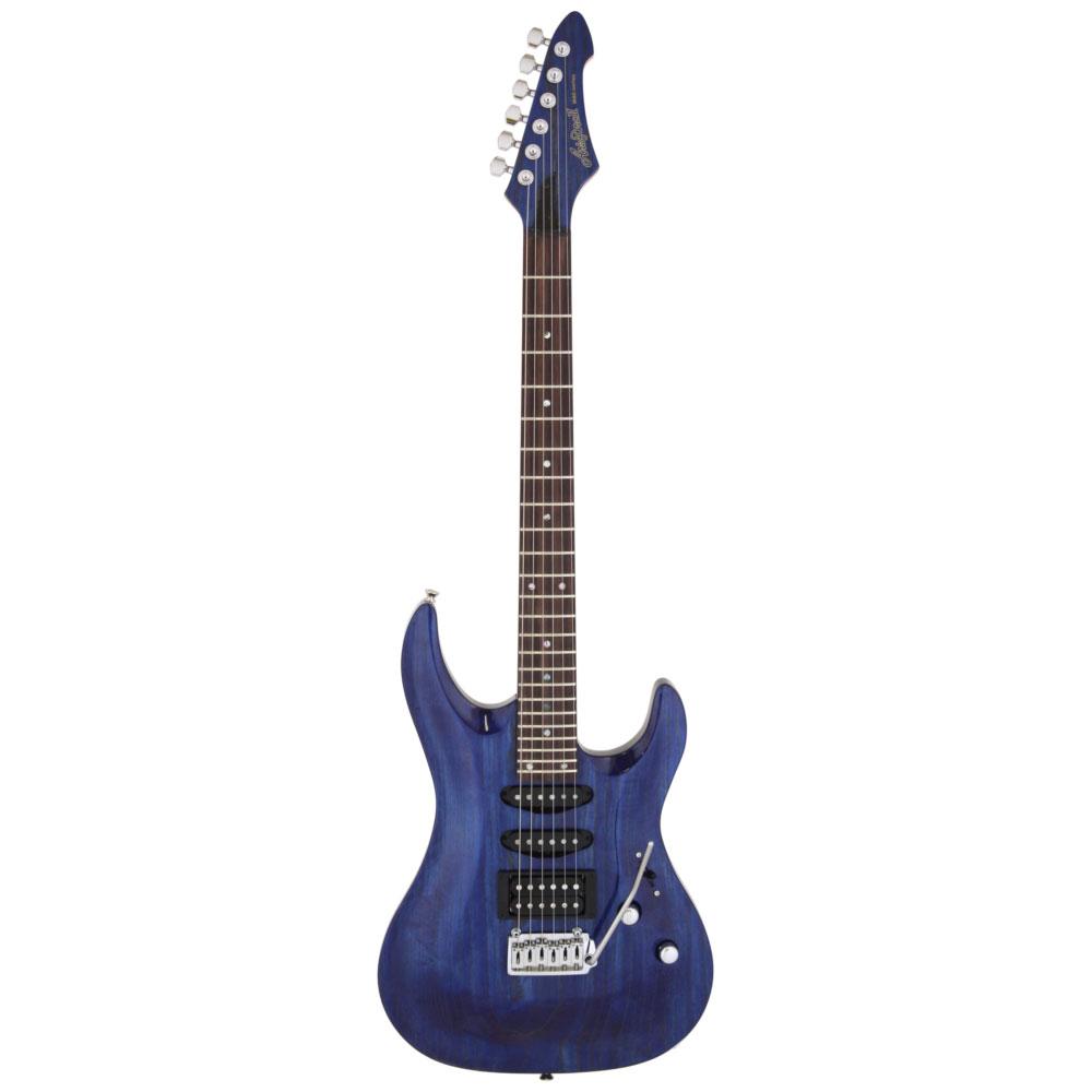 【送料込】【ギグバッグ付】Aria ProII/アリアプロツー MAC-LUX/BLGL(Blue/Gold Stained) 国産エレキギター【smtb-TK】