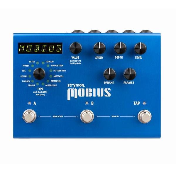 【送料込】Strymon/ストライモン Mobius MOD unit with MIDI Preset メビウス モジュレーション・マシーン【smtb-TK】