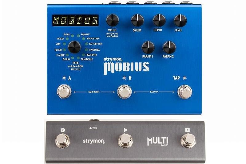 【送料込】【スイッチングシステム/MultiSwitch付】Strymon/ストライモン Mobius MOD unit with MIDI Preset メビウス モジュレーション・マシーン【smtb-TK】