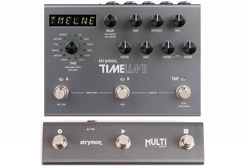 【送料込】【スイッチングシステム/MultiSwitch付】Strymon/ストライモン TIMELINE DELAY unit with MIDI Preset MIDIプログラム搭載 ディレイ・ユニット【smtb-TK】