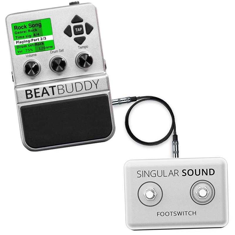 【送料込】【専用フットスイッチ付】Singular Sound BeatBuddy ギターペダル型ドラムマシン【smtb-TK】