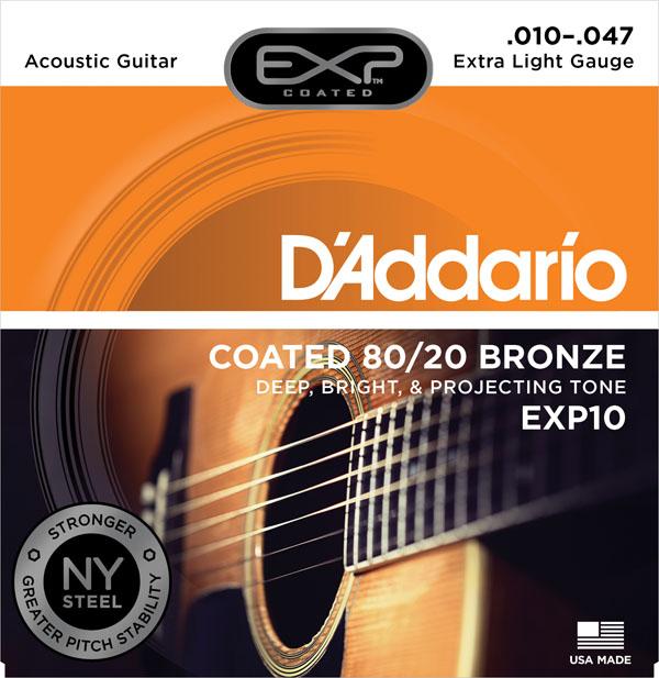 【メール便・送料無料・代引不可】D'Addario/ダダリオ EXP10×10セット EXPコーティングアコギ弦[10-47]【smtb-TK】