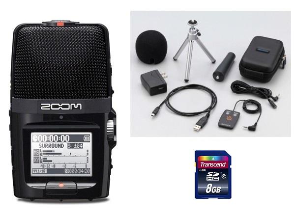 【送料込】【APH-2n+8G/SDカード付】ZOOM/ズーム H2n/H2next ハンディレコーダー
