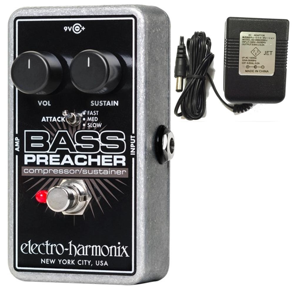 【送料込】【純正アダプター付】【国内正規品】ELECTRO HARMONIX Bass Preacher ベース用 コンプレッサー/サスティナー ベースコンプ【smtb-TK】