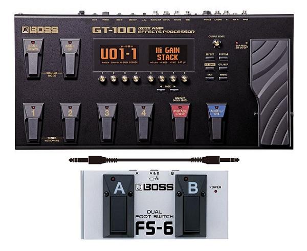 【送料込】【フットスイッチ/FS-6+接続ケーブル付】BOSS/ボス GT-100 Version2.0 COSM Amp Effects ProcessorBOSSフロア・マルチ・シリーズ/フラッグシップ・モデル【smtb-TK】