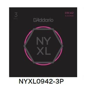 【メール便・送料無料・代引不可】D'Addario/ダダリオ NYXL0942-3P エレキギター弦 3セットパック×2パック(計6セット)【smtb-TK】