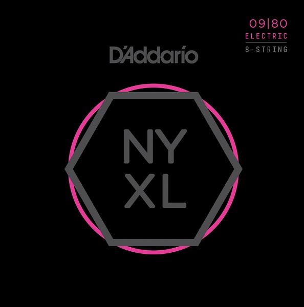【メール便・送料無料・代引不可】【10セット】D'Addario/ダダリオ NYXL0980 8弦ギター用 Super Light[09-80]【smtb-TK】