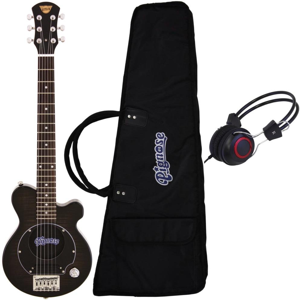 【送料込】【ヘッドホン付】Pignose ピグノーズ PGG-200/FM SBK アンプ内蔵ギター【smtb-TK】