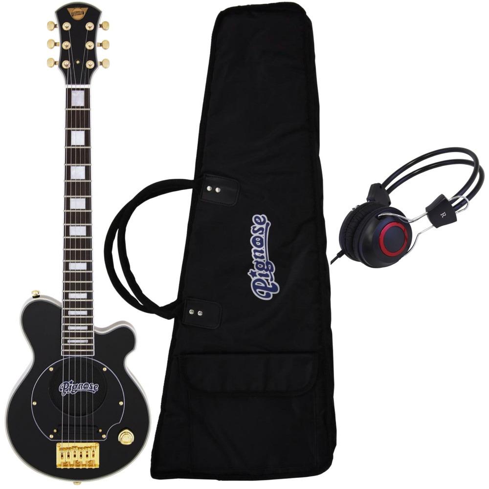 【送料込】【ヘッドホン付】Pignose ピグノーズ PGG-259 BK アンプ内蔵ギター【smtb-TK】