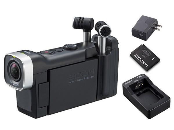 【送料込】【追加充電式バッテリー+BT-02充電器+ACアダプター付】ZOOM ズーム Q4n 音にこだわるクリエイターのためのビデオレコーダー【smtb-TK】