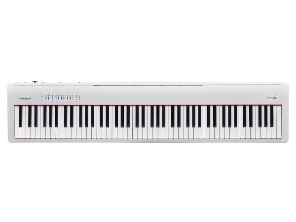 【送料込】Roland ローランド FP-30-WH 本格派ポータブル・ピアノ【smtb-TK】