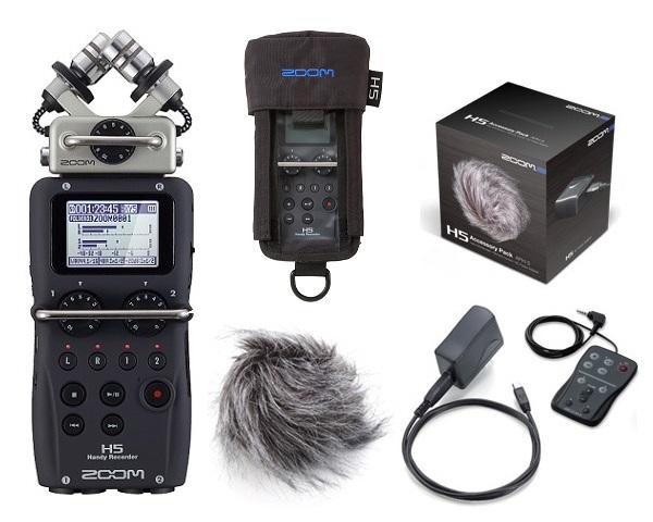 【送料込】【アクセサリーパック/APH-5+専用ケース/PCH-5付】ZOOM/ズーム H5 ハンディーレコーダー【smtb-TK】