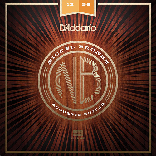 【メール便・送料無料・代引不可】【5セット】D'Addario ダダリオ NB1256 ニッケルブロンズ Light Top / Med Bottom アコースティックギター弦【smtb-TK】