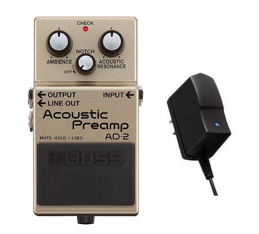 【送料込】【純正ACアダプター/PSA-100S2付】BOSS ボス AD-2 Acoustic Preamp【smtb-TK】