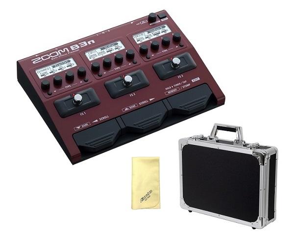 【限定ZOOMピック2枚付】【送料込】【愛曲クロス付】【エフェクターケース/EC45BK付】ZOOM ズーム B3n B3next Multi-Effects Processor for Bass【smtb-TK】