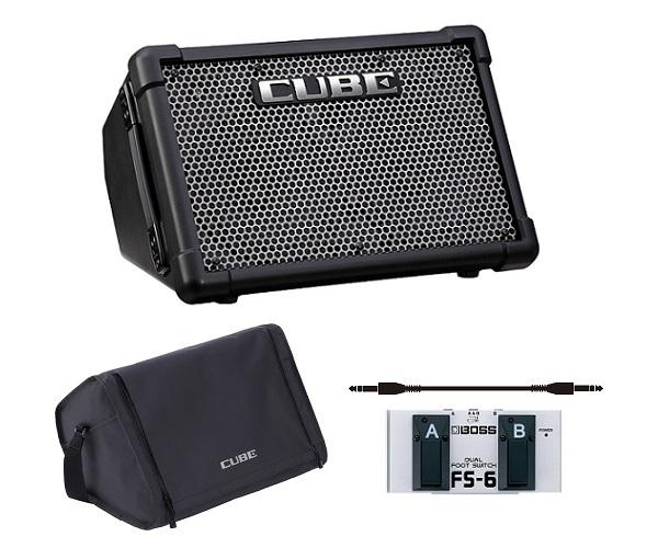 【送料込】【キャリングバッグ/CB-CS2+フットスイッチ/FS-6付】Roland ローランド CUBE Street EX Battery Powered Stereo Amplifier【smtb-TK】