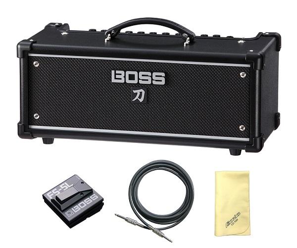【送料込】【愛曲クロス付】【フットスイッチ/FS-5L+接続ケーブル付】BOSS ボス KATANA-HEAD KTN-HEAD Guitar Amplifier BOSSフラッグシップの技を継承する切れ味鋭い本格的ロック・サウンド【smtb-TK】