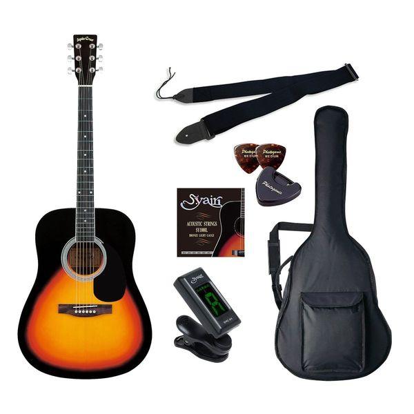 【送料込】【初心者入門6点セット】Sepia Crue セピアクルー WG-10/VS アコースティックギター ライトセット【smtb-TK】