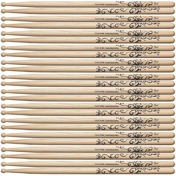 桜澤泰徳 【送料込】【12ペア】Pearl Rayflower, ドラムスティック【smtb-TK】 ZIGZO 160H sakura パール
