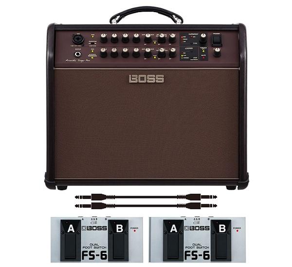 【送料込】【フットスイッチ*2個/FS-6+audio-technica製接続ケーブル*2本付】BOSS ボス Acoustic Singer Pro ACS-PRO アコースティック・ステージ・アンプ【smtb-TK】