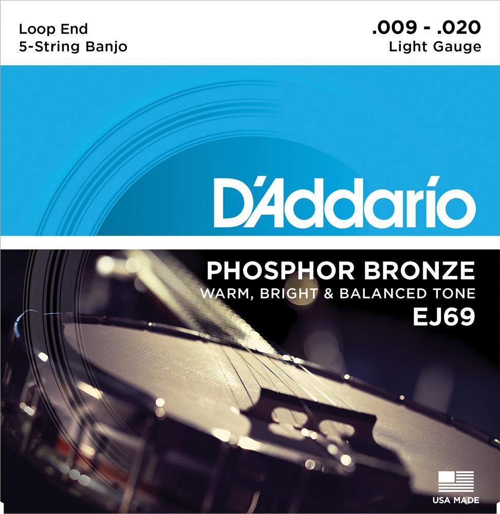 メール便 送料無料 毎週更新 代引不可 5セット D'Addario ダダリオ smtb-TK EJ69 5弦 人気の製品 バンジョー弦 Phosphor Bronze