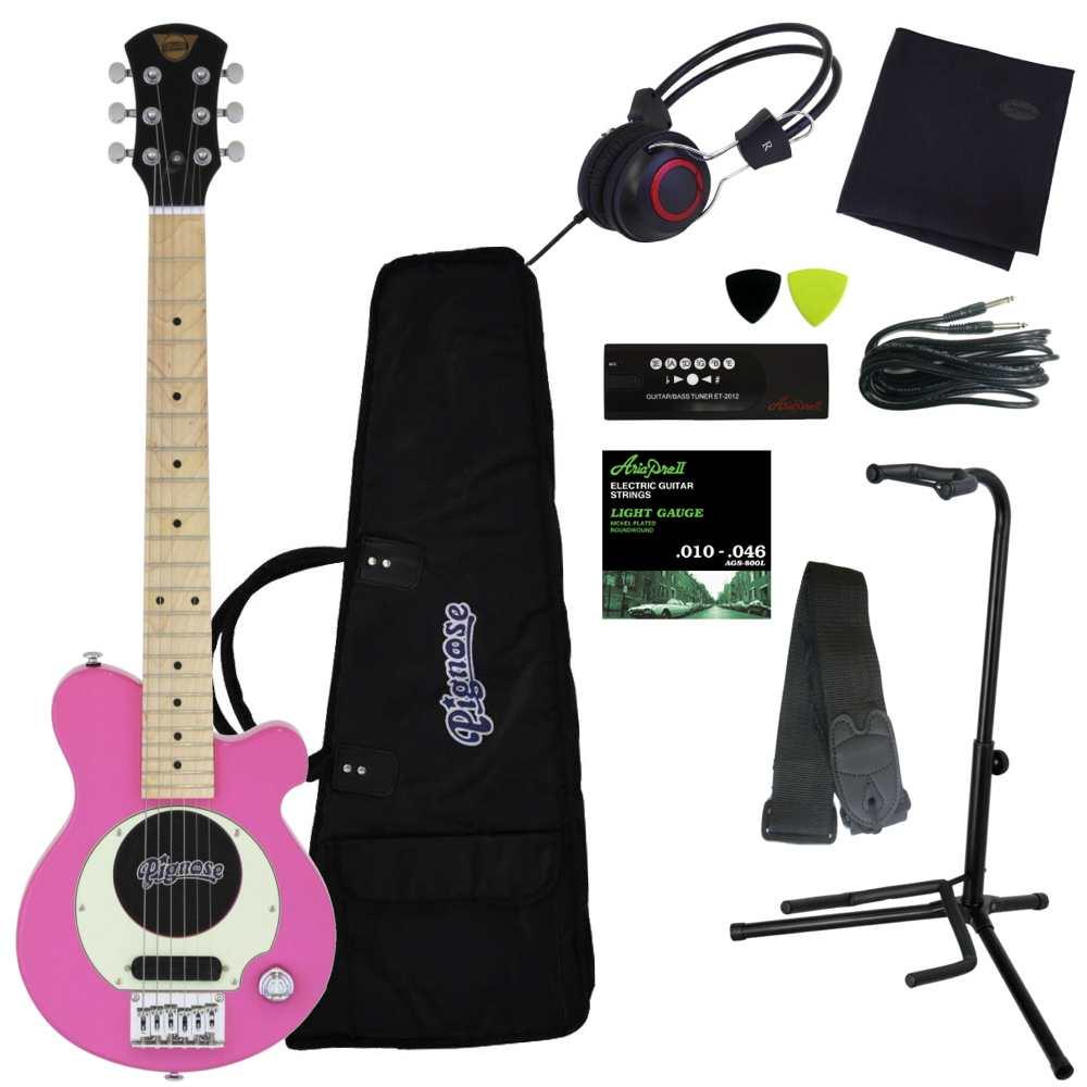 【送料込】【豪華10点セット】Pignose/ピグノーズ PGG-200 PK Pink アンプ内蔵ギター【smtb-TK】