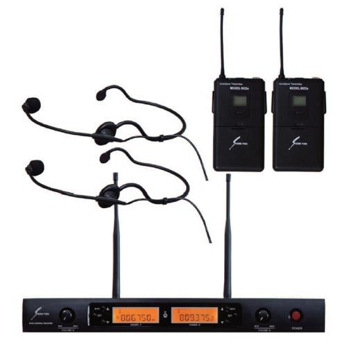 【送料込】SOUND PURE SP8022-WEMBK2 デュアルチャンネルワイヤレスシステム w/ヘッドセットマイク×2 【smtb-TK】