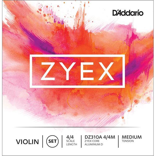 高級な D'Addario 与え DZ310A 4 4M ZYEX SET バイオリン弦 D MED セット ALM