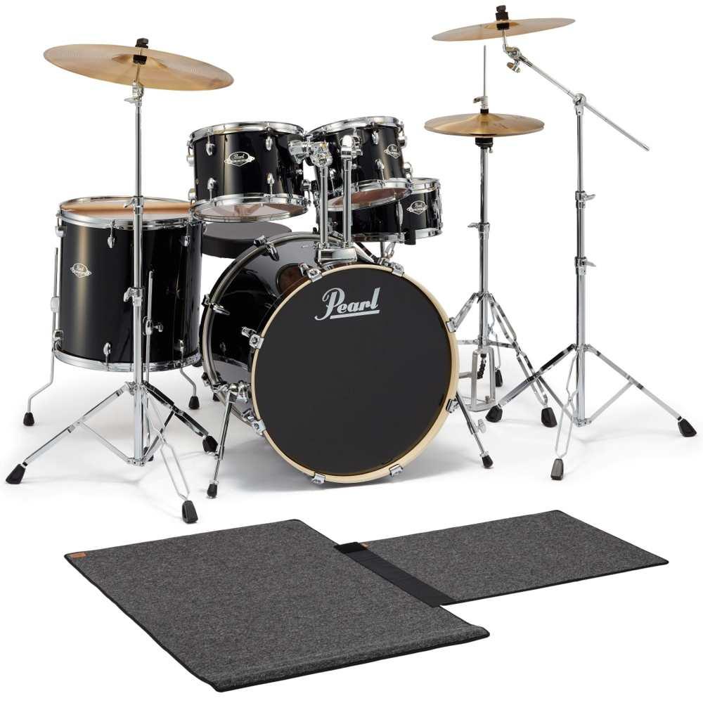 【送料込】【限定モデル】【ドラムマット付】Pearl パール EXX725SJB/C No.31/ジェットブラック ドラムセット【smtb-TK】
