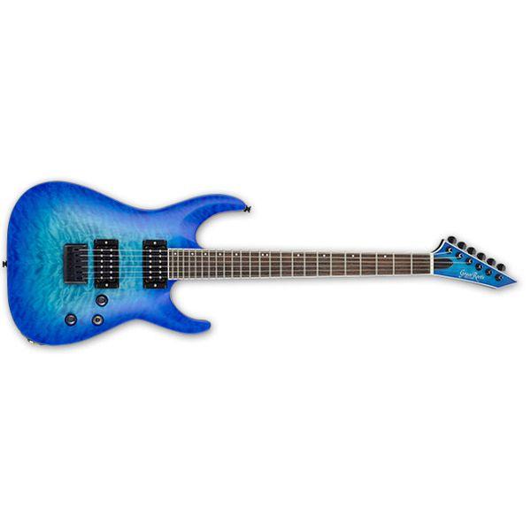 【送料込】GrassRoots グラスルーツ G-HR-55FX See Thru Blue Sunburst Satin エレキギター 【smtb-TK】