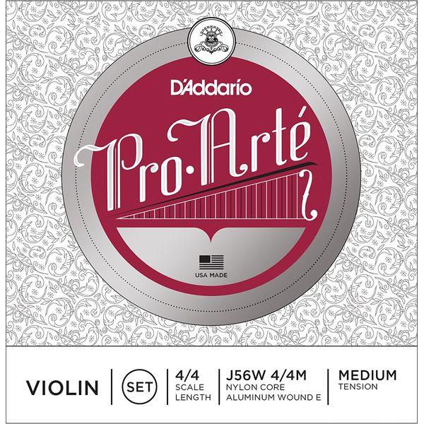D'Addario J56W 4/4M PROARTE SET WND E ME バイオリン弦 セット