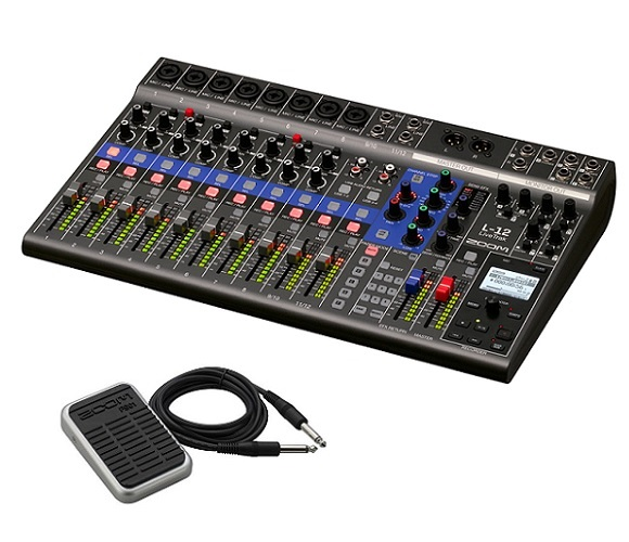 【送料込】【フットスイッチ/FS01付】ZOOM ズーム LiveTrak L-12 ライブ演奏のミックスとレコーディングに【smtb-TK】
