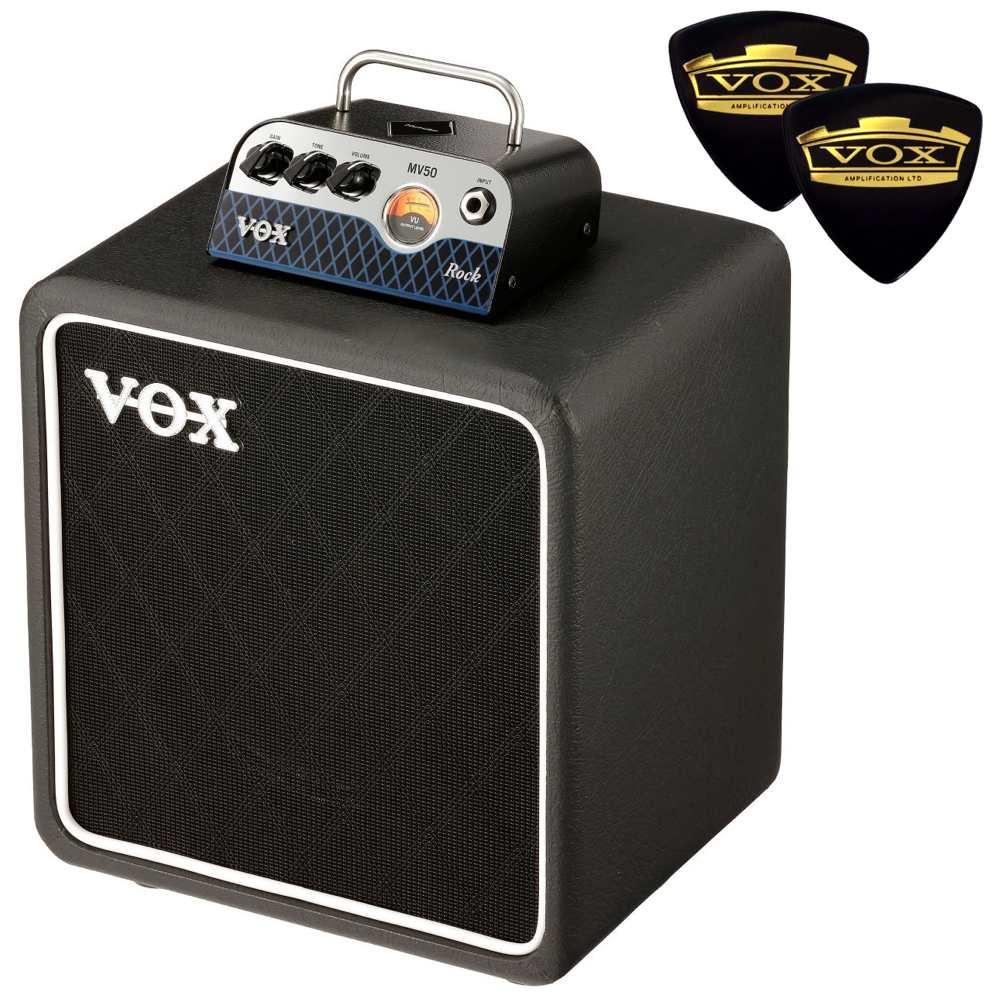 【送料込】【限定VOXピック2枚付】VOX ヴォックス MV50-CR / Rock + BC108 新真空管 Nutube 搭載 アンプ・ヘッド + キャビネット【smtb-TK】