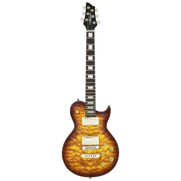 【送料込】【ケース付】Aria ProII アリアプロツー PE-480/BS Brown Sunburst キルテッドメイプル・トップ エレキギター【smtb-TK】