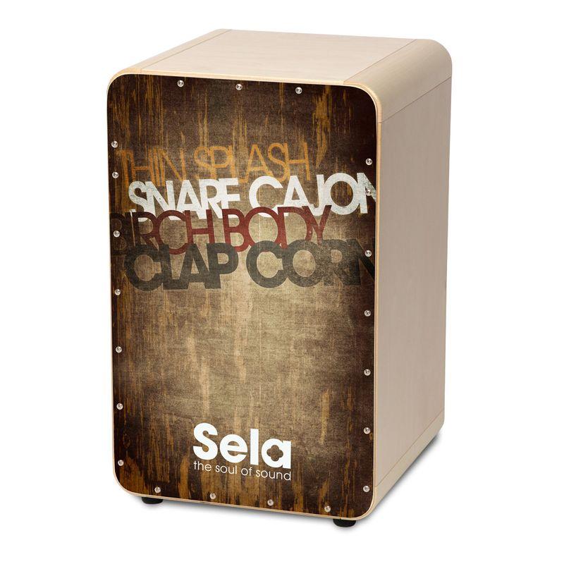 【送料込】Sela CaSela Vintage Brown SE075 スネア・カホン 【smtb-TK】
