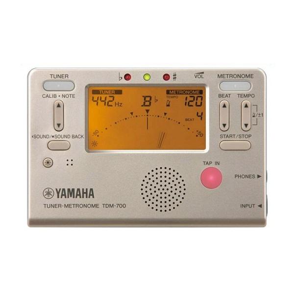 メール便 送料無料 代引不可 YAMAHA ヤマハ TDM-700G ゴールド smtb-TK 開店記念セール 1年保証 メトロノーム チューナー