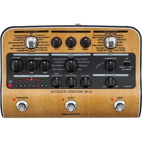 【限定ZOOMピック2枚付】【送料込】【ACアダプター付属】ZOOM AC-3 Acoustic Creator【smtb-TK】
