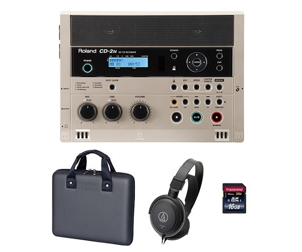【送料込】【専用ケース/CB-CD2E+audio-technicaヘッドホン+SDHCカード/16GB付】Roland/ローランド CD-2u SD/CD Recorder SD/CDレコーダー【smtb-TK】