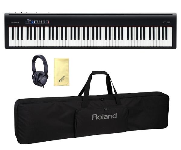 【送料込】【愛曲クロス付】【純正ケース/CB88RL+純正ヘッドホン/RH5付】Roland ローランド FP-30-BK 本格派ポータブル・ピアノ【smtb-TK】