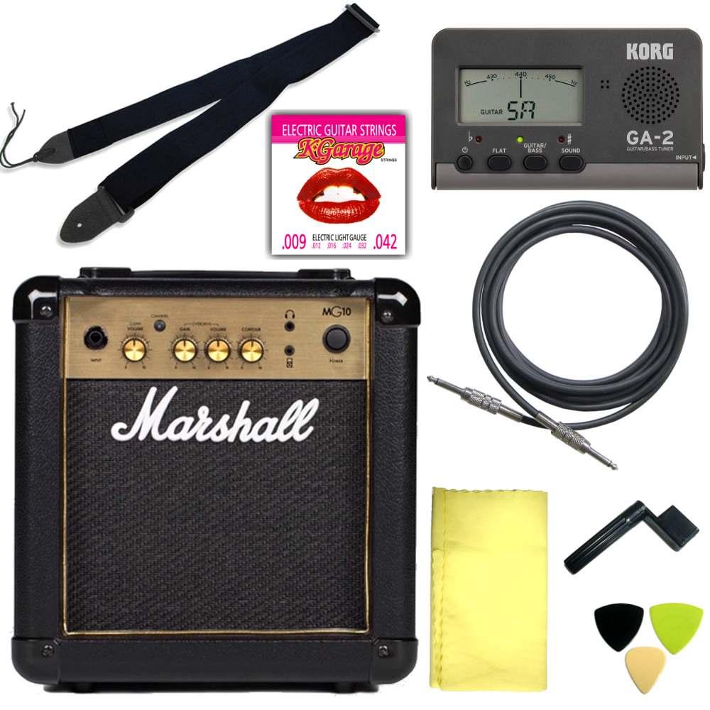 【送料込】エレキギター用アクセサリー定番8点セット/Marshallアンプ【smtb-TK】